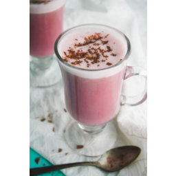 Spiced Beet and Oat Milk Latte