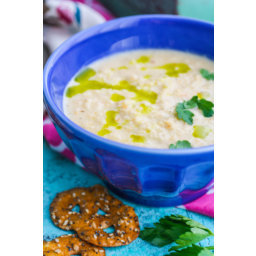 Creamy Roasted Cauliflower Soup with Parsley Oil