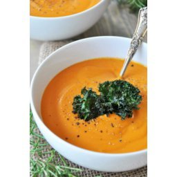 Creamy Roasted Carrot, Garlic, and Rosemary Soup -Vegan and Gluten-Free