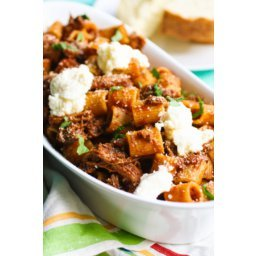 Pasta with Short Ribs and Ricotta