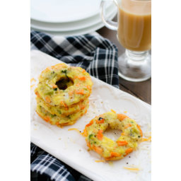 Egg and Mixed Veggie Breakfast Donuts