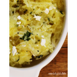 Buttery Spaghetti Squash with Garlic and Feta