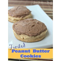 Cutler's Frosted Peanut Butter Cookies Recipe