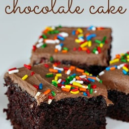 One Bowl Chocolate Cake (made from scratch!)