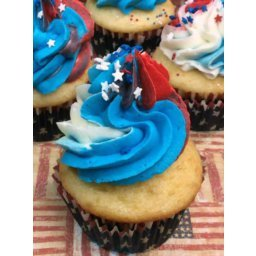 Red White & Blue Cupcakes