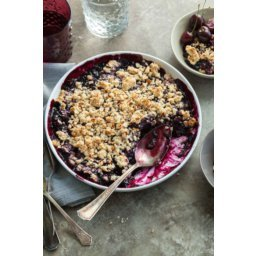 Cherry Berry Almond Crumble (Paleo, Vegan)
