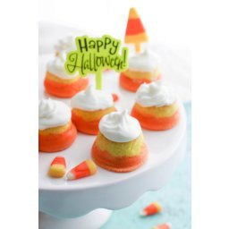 """Mini """"Candy Corn"""" Cupcakes with Buttercream Frosting"""