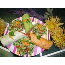 Colorful Vegetable Wrap
