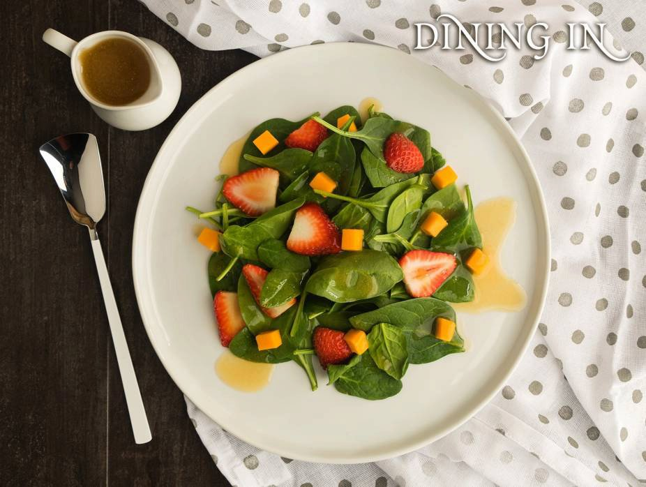 Spinach-Cheese Salad