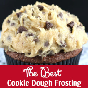 The Best Cookie Dough Frosting