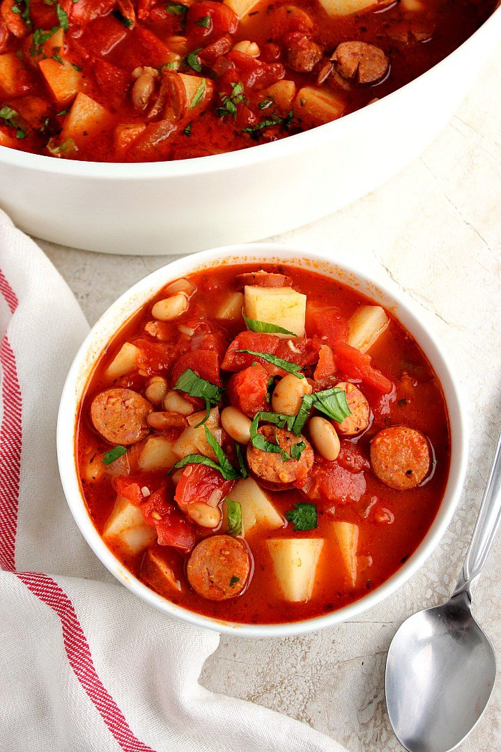 Italian Soup with Sausage and Potatoes Recipe