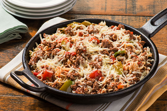 Cheesy Beef Noodle Skillet