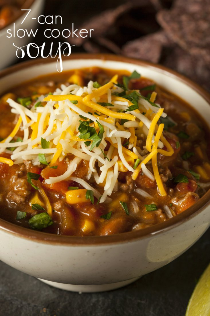 Quick & Easy - Slow Cooker 7 Can Soup Recipe!