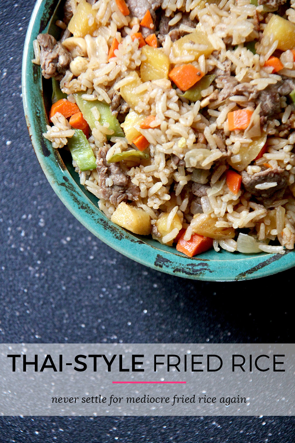 Thai-Style Pineapple Fried Rice with Beef