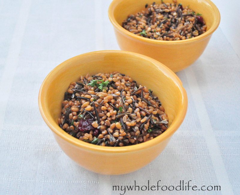 Wheat Berry Salad with Cranberries