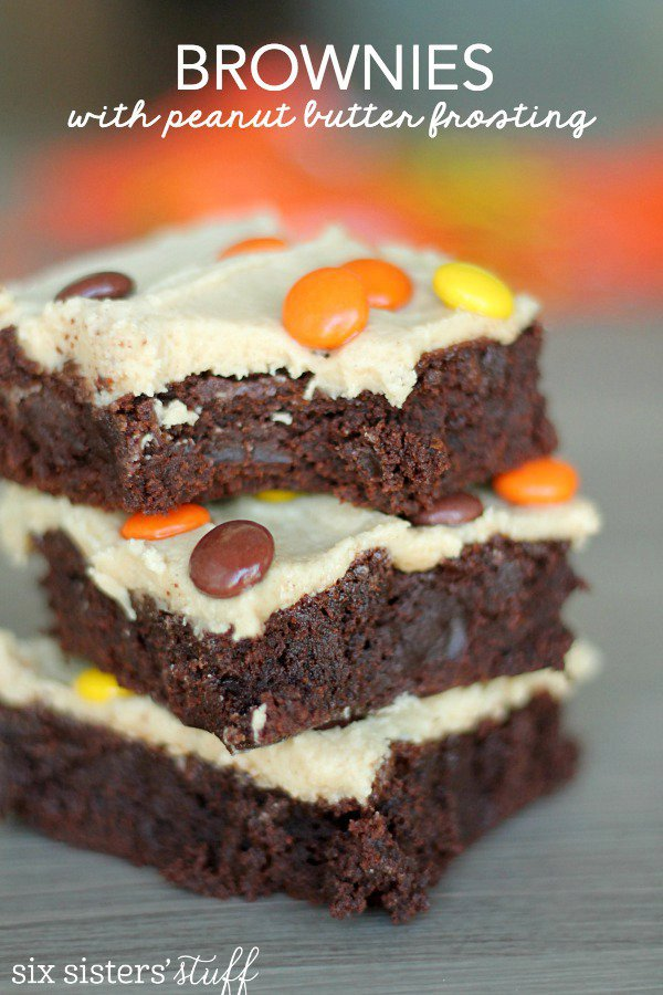 Brownies with Peanut Butter Buttercream Frosting