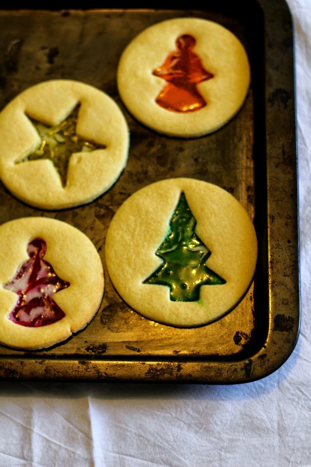 Christmas Stained Glass Sugar Cookies