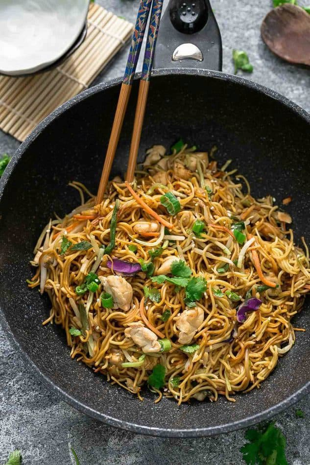 Chicken Chow Mein Noodles + MEAL PREP + VIDEO