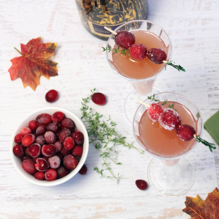 Cranberry Mimosas – A Holiday Cocktail