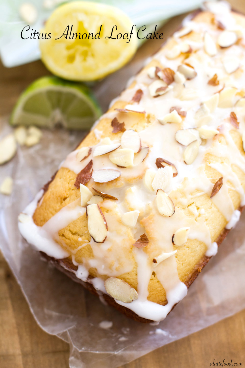 Citrus Almond Loaf Cake