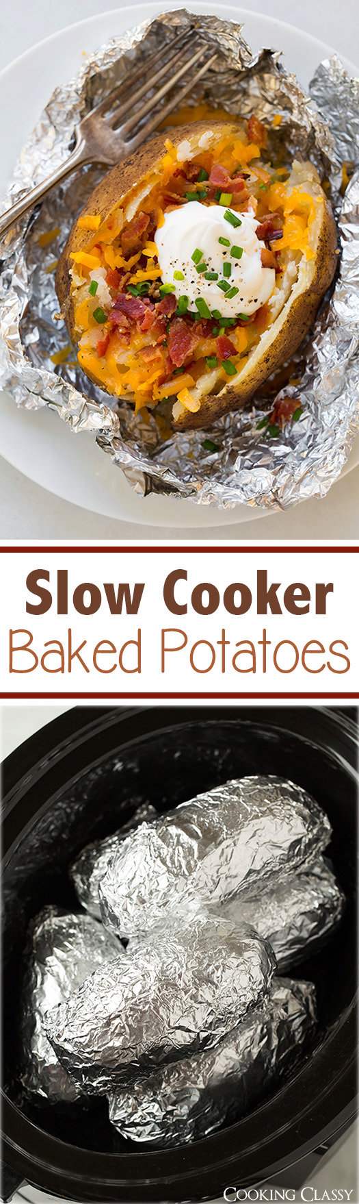 "Slow Cooker ""Baked"" Potatoes"