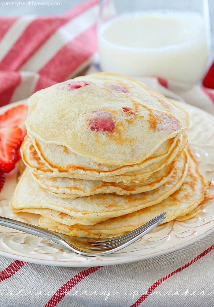 Perfect Strawberry Pancakes