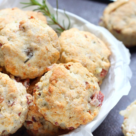 Rosemary, potato and bacon biscuits recipe
