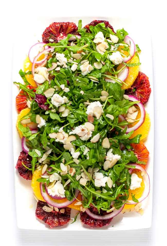Winter Citrus Salad with Arugula and Goat Cheese