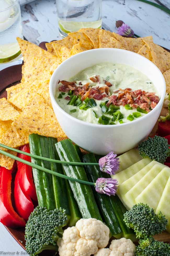 5-Minute Bacon and Chive Jalapeño Dip