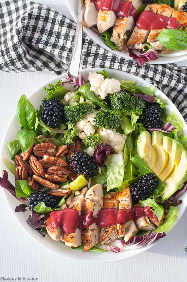 Blackberry Balsamic Grilled Chicken Salad