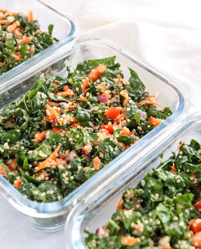 Kale Quinoa Salad with Apple Cider Dressing