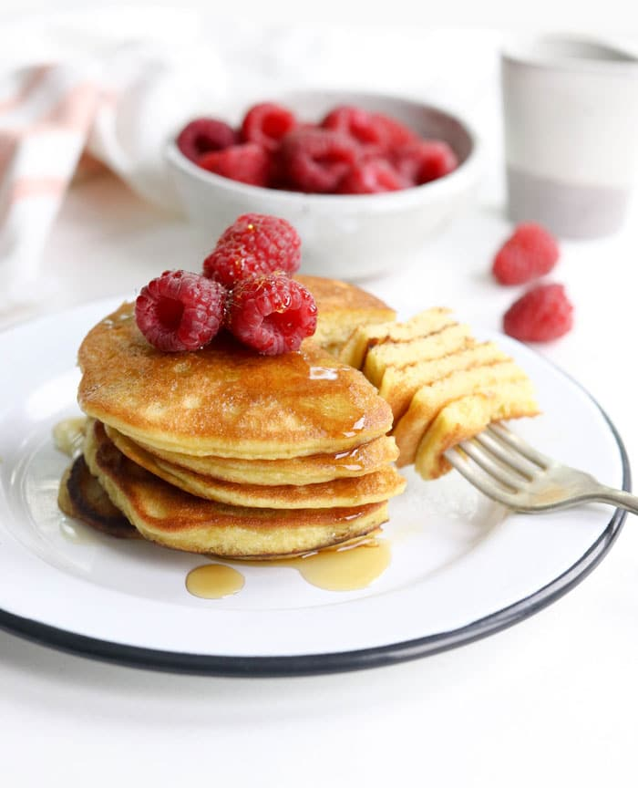 Coconut Flour Pancakes (Dairy-free + Keto-Friendly)