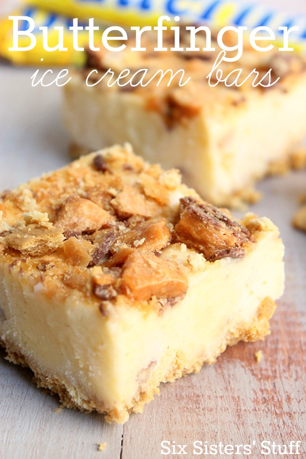 Butterfinger Ice Cream Bars