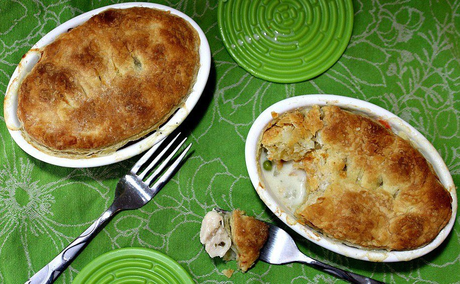 Creamy Chicken Pot Pie with Puff Pastry