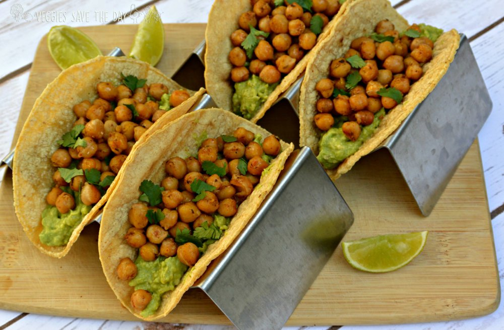 Chickpea and Guacamole Tacos