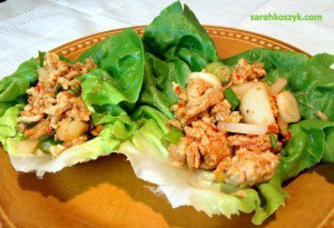 Quick & Easy Turkey or Chicken Asian-inspired Lettuce Cups