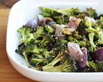 Roasted Broccoli with Onions and Garlic