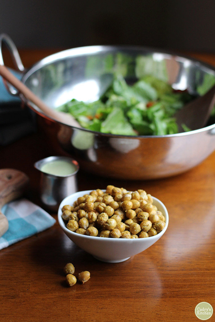 Fried chickpeas in the air fryer