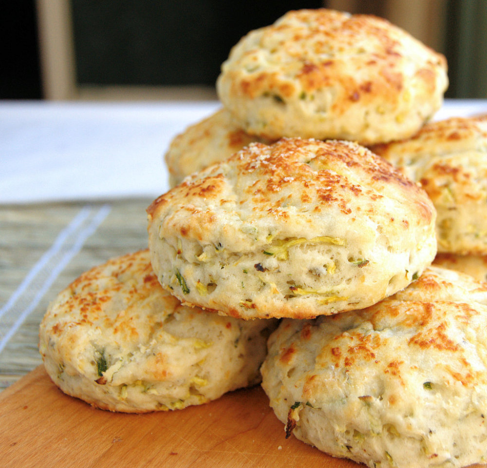 Zucchini Biscuits with Basil and Parmisan