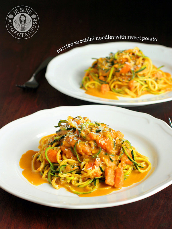 Curried Zucchini Noodles with Sweet Potato