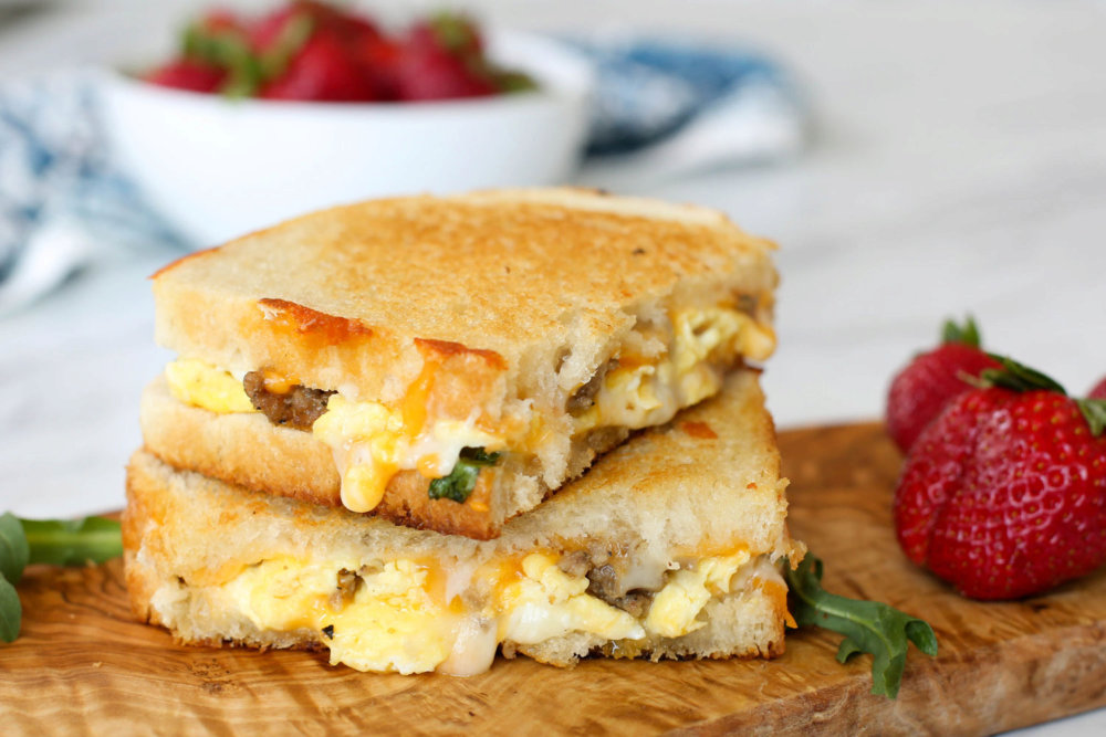 Breakfast Grilled Cheese