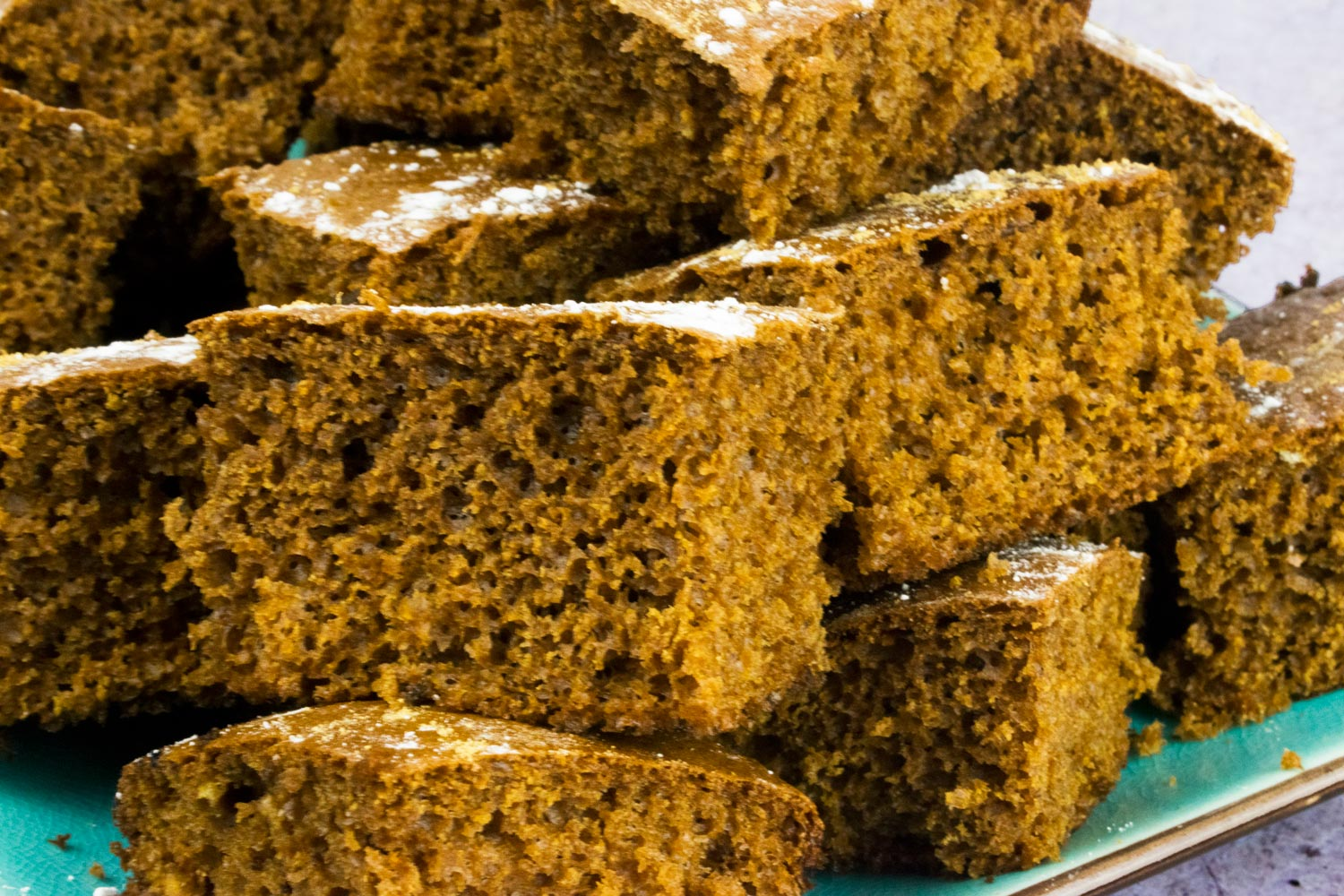 Low Syn Sticky Gingerbread Traybake