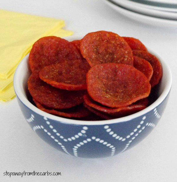 Microwave Pepperoni Chips