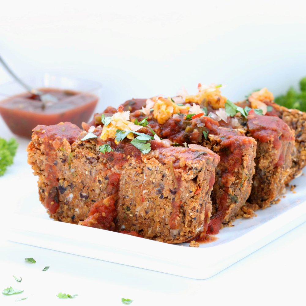 Mexican Vegan Meatloaf (Gluten-free, Plant-based, Low Fat)