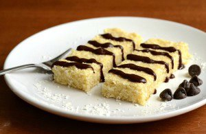 Coconut Bars with Chocolate Drizzle