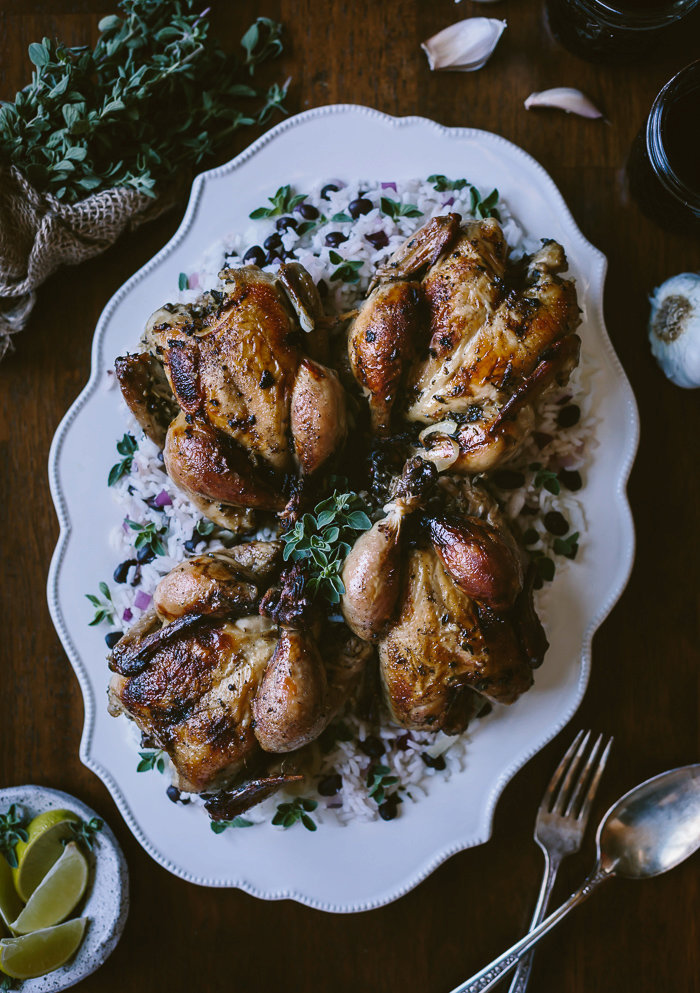Cuban Roast Cornish Game Hens