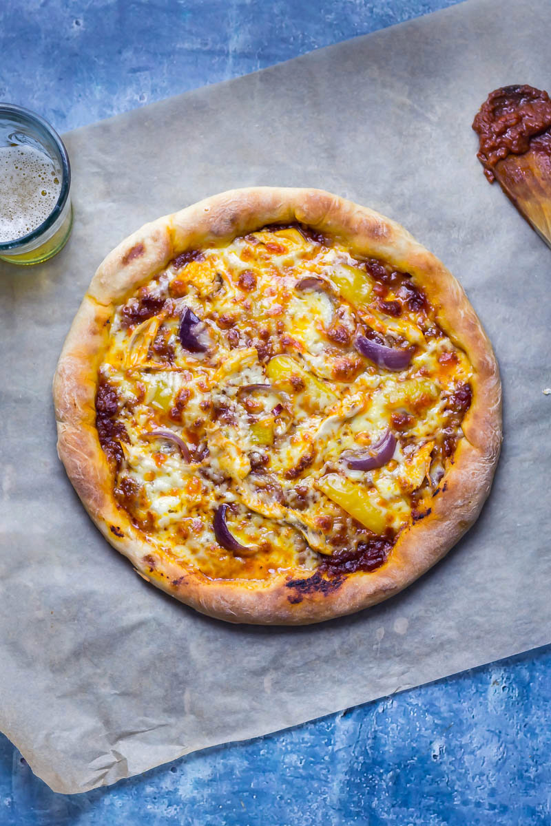 Stuffed Crust Pizza with Chipotle Chicken