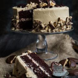 Tagalong Cake with Whipped Peanut Butter Frosting