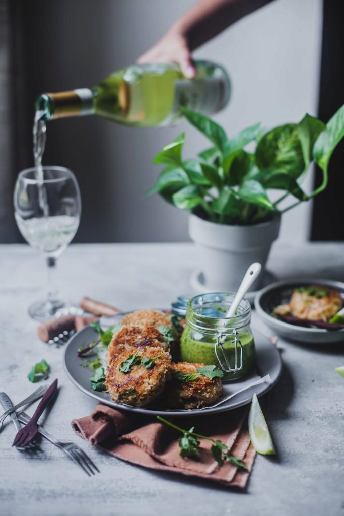 Crab Cakes with Chimichurri Sauce