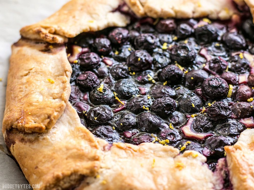 Lemon Blueberry Cream Cheese Galette
